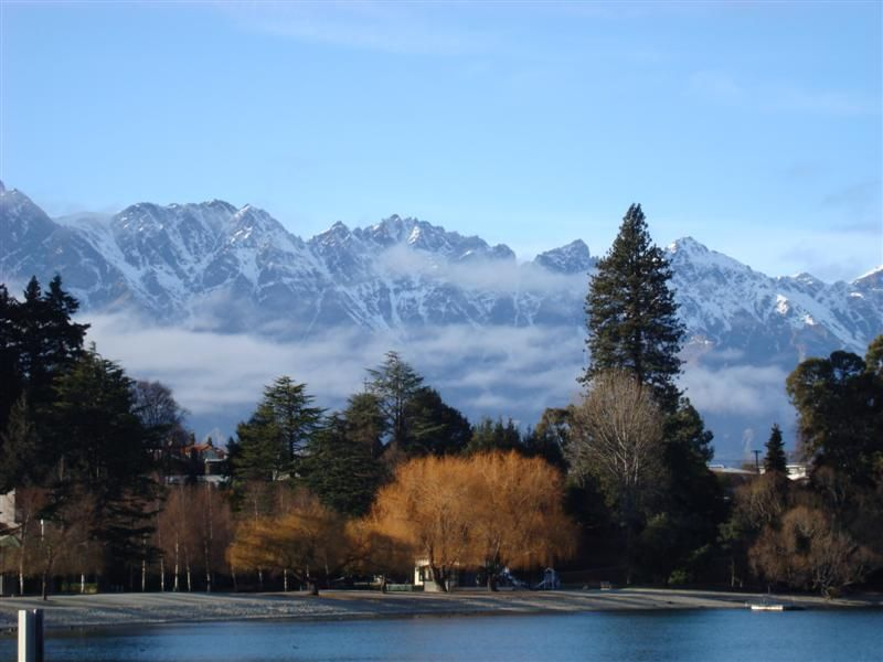 The Remarkables slowing coming out from behind the clouds