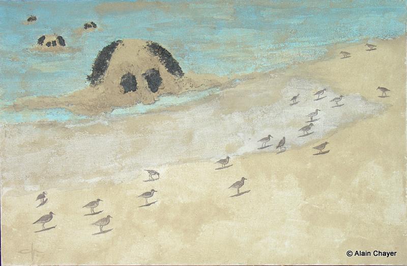 178 - Prickly Pear - 2007 92 x 60 - Sable et aquarelle sur toile
