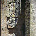 Arc de Septime Sévère : pilastre décoré de rinceaux en marbre