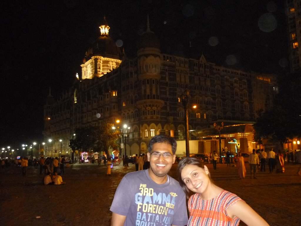 in front of Taj Mahal Hotel