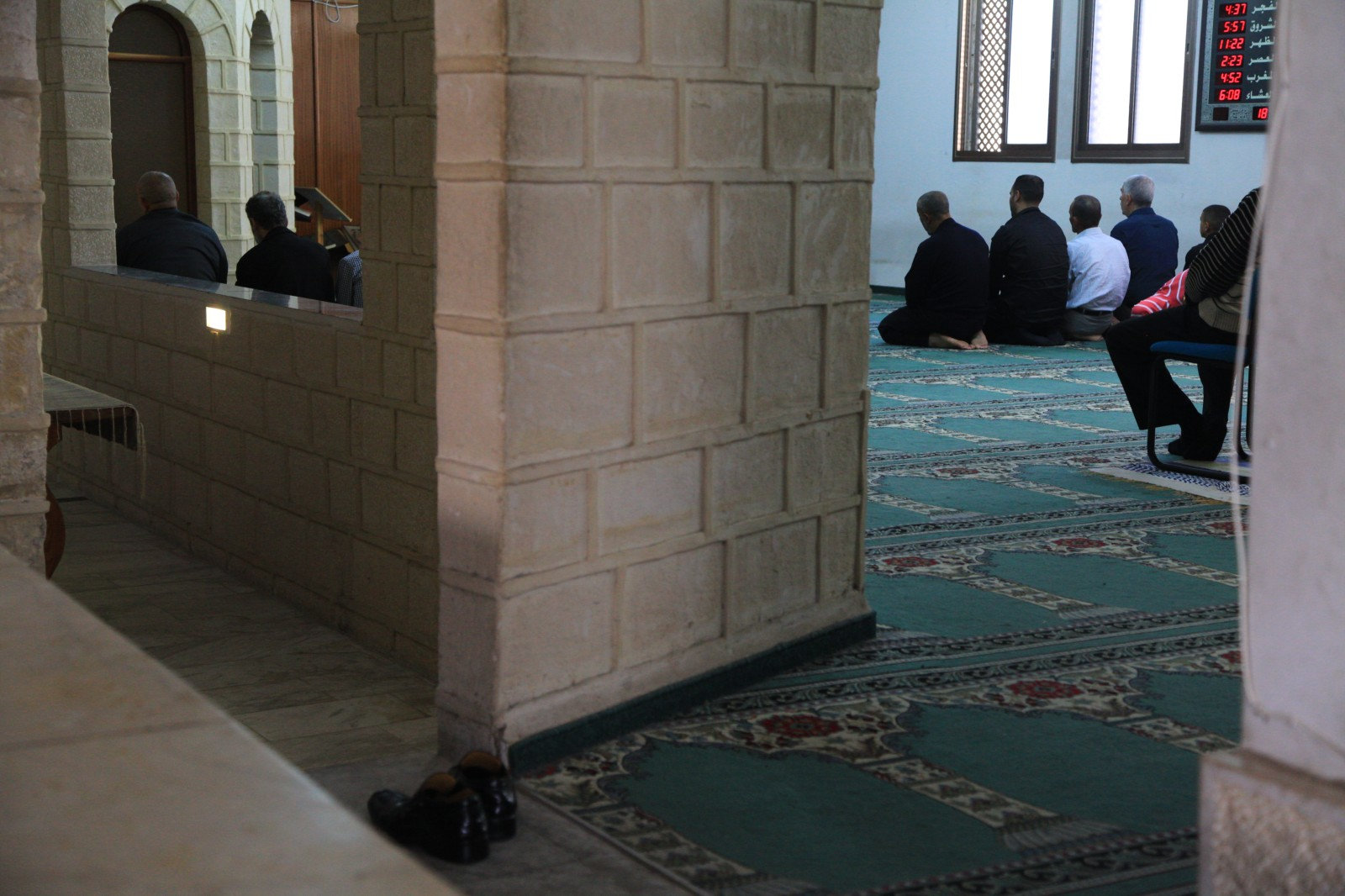 Inside of the White Mosque, I wonder what these numbers on the wall mean