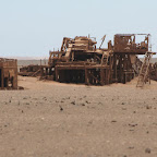 Abandoned oil rig (Skeleton Coast)