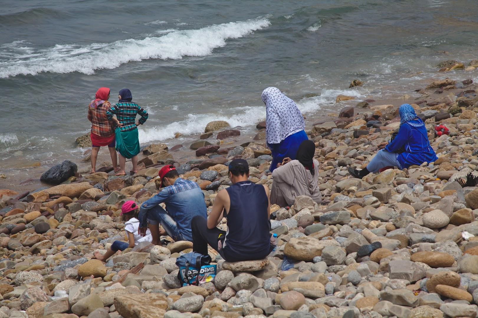 No bikins at the beach in Casablanca