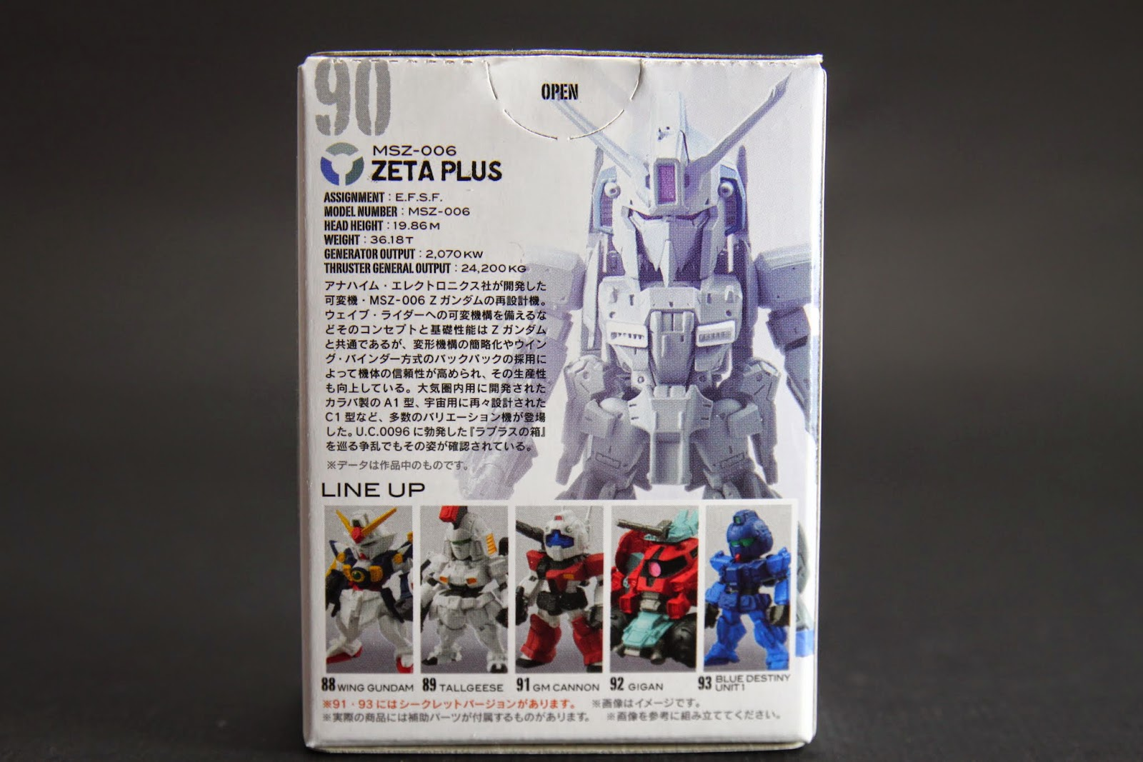 Z Gundam的眾多發展型之一 設定上都是少量生產,因為很貴