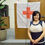 Bögi Ilona, a Vöröskereszt albári szervezetének elnöke, az est házigazdája