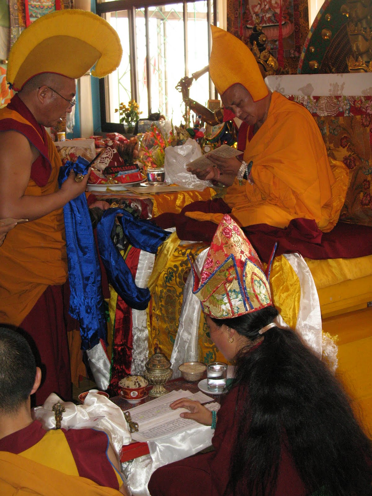 Special long life puja offered to Lama Zopa Rinpoche, Kopan Monastery, June 2009.