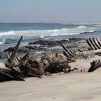 Wooden shipwreck