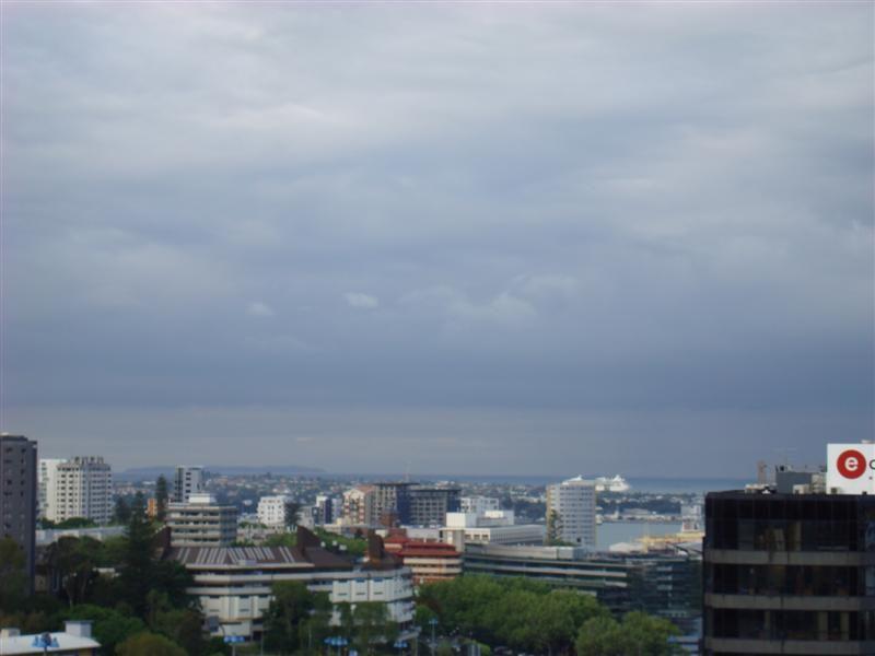 Rhapsody leaving Auckland Harbour. Taken from my balcony