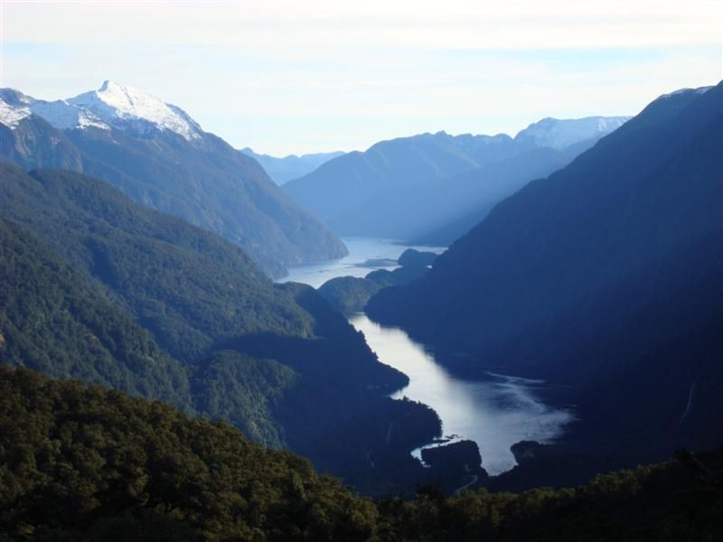 My first sight of Doubtful Sound from 640m above on Wilmont Pass
