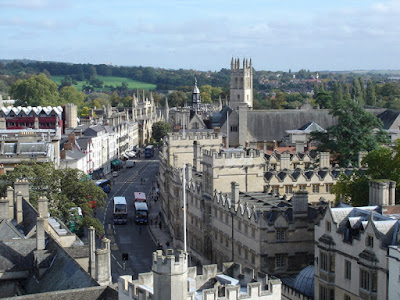 From the spire of the University Church of St Mary the Virgin