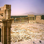 Temple de Bêl : la cour et la porte