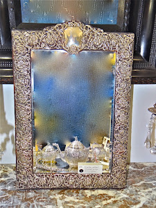 Зеркало в серебряной оправе. 19-й век.