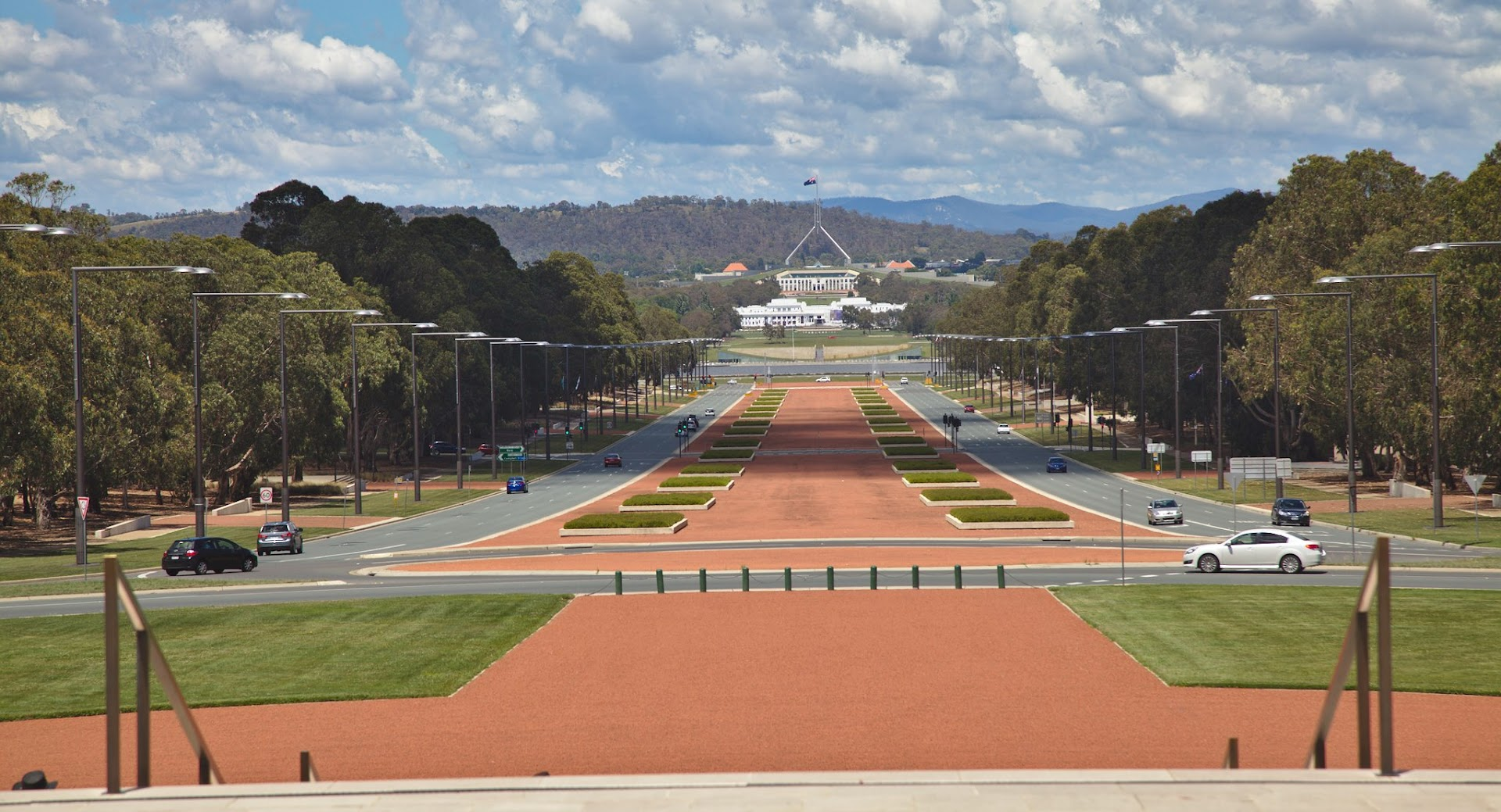 View from the awesome war museum in Canberra