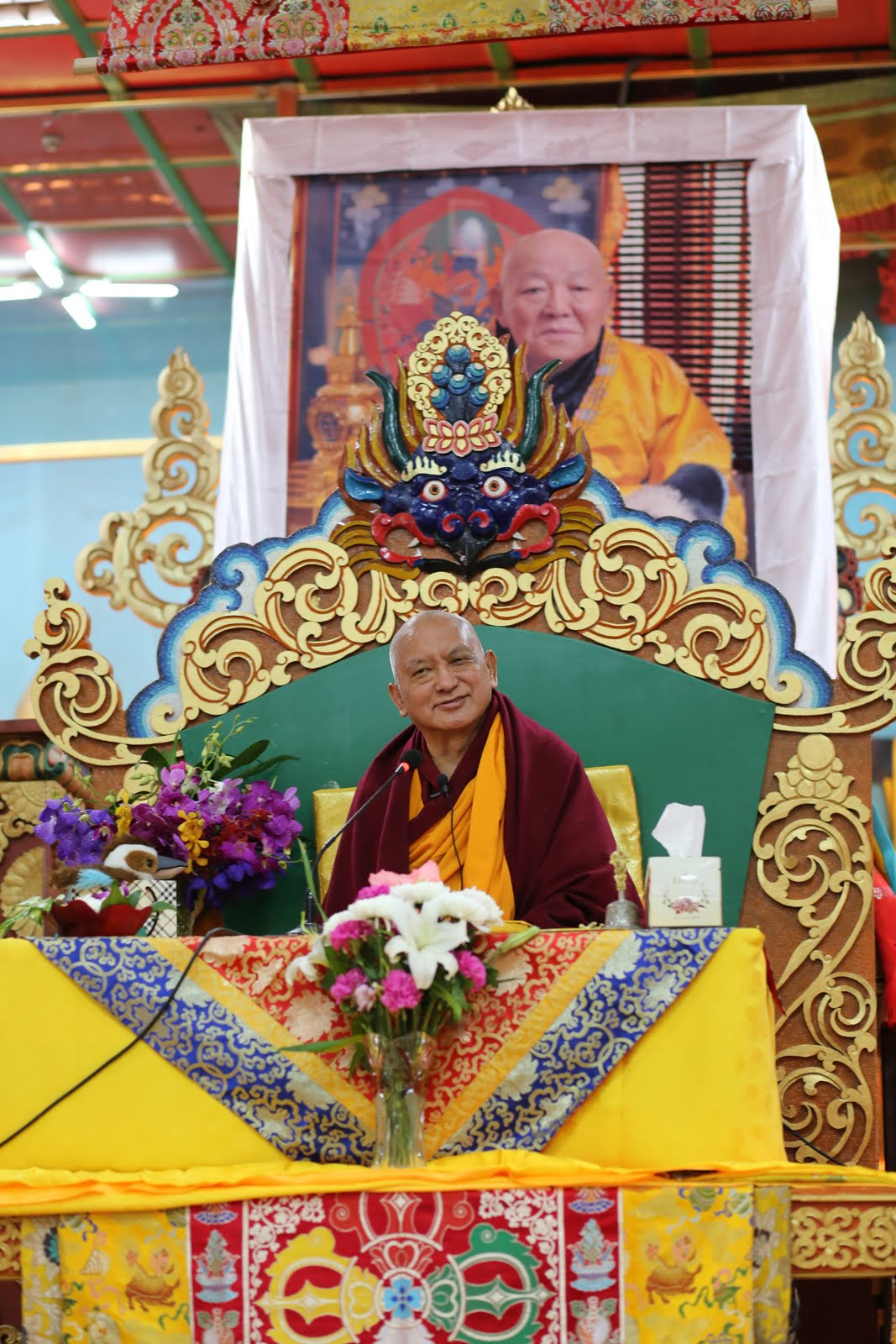 Rinpoche at 100 Million Mani Retreat, Mongolia, August 2013. Photo by Ven. Roger Kunsang.