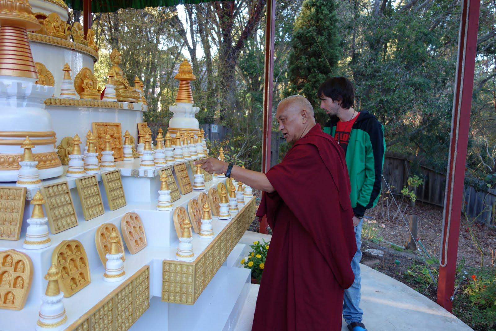 Tenzin Ösel visits Rinpoche at his house in Aptos, California. October 2013.