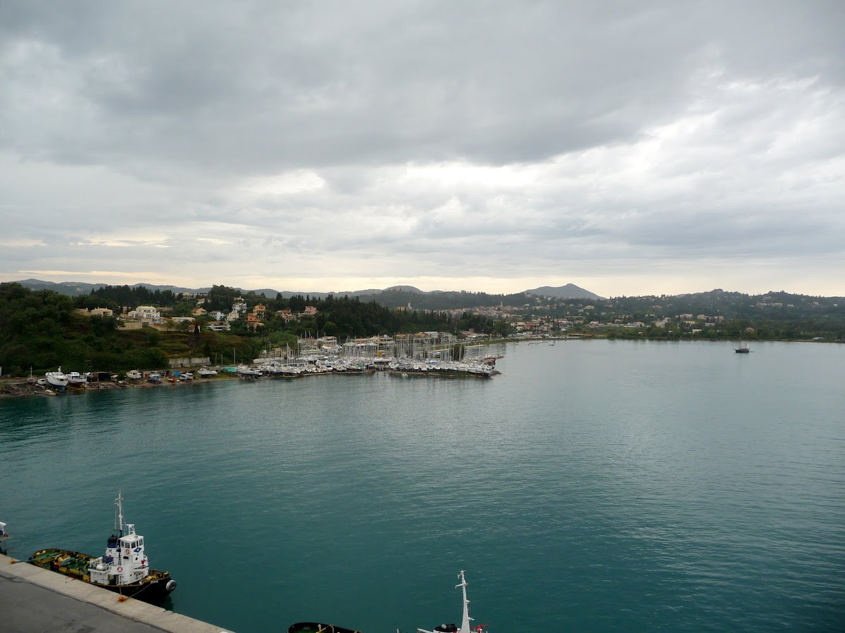 Leaving Corfu, weather clearing up