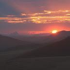 Sunrise in the World's highest dunes of Sossuvlei