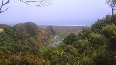 The northern end of Whatipu beach