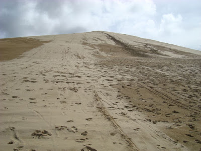 Where you sand board down....no one there at the time