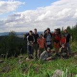Starší - puťák: skupinové foto 9/10 účastníků puťáku