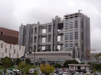 Fuji Television building on Daiba Island