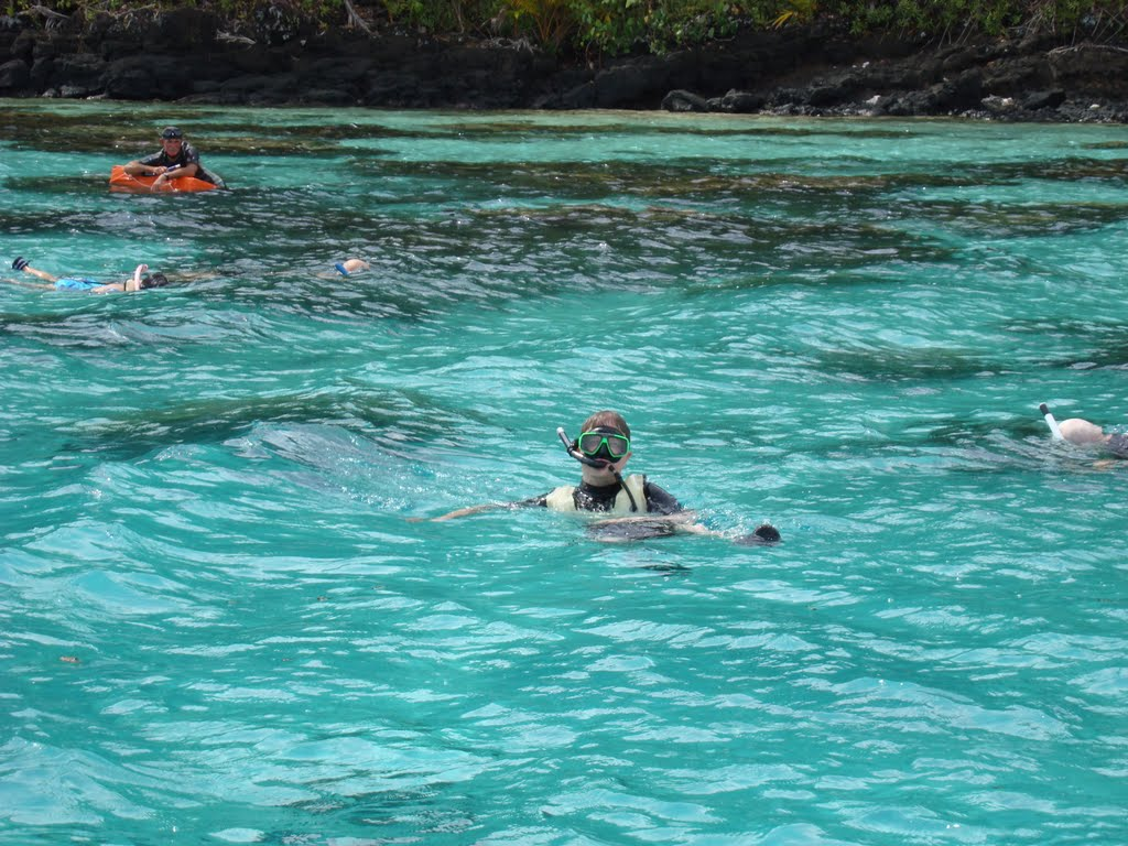We went snorkling in the afternoon.