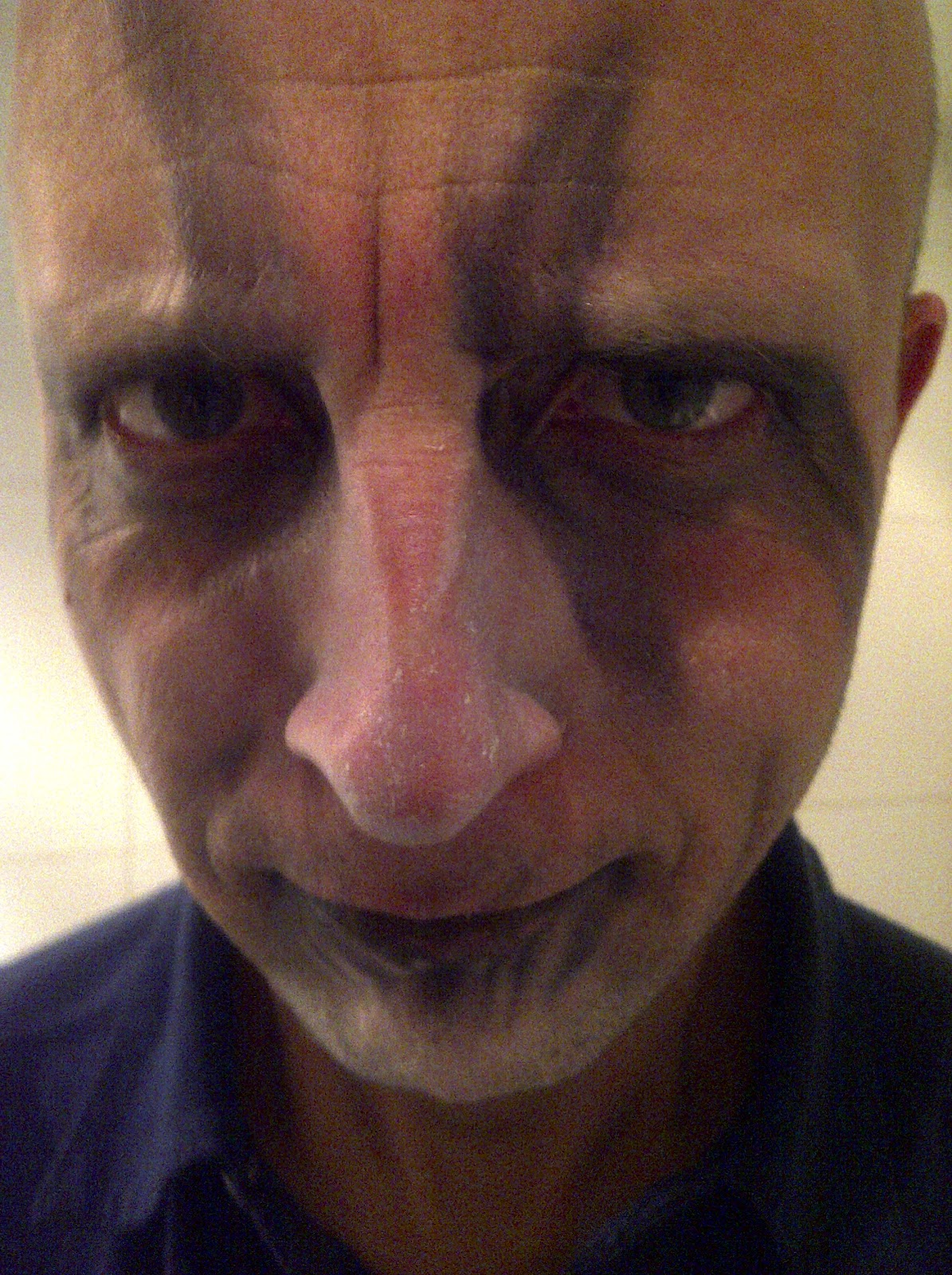Removing Halloween from my face is even more scary