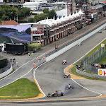 Romain Grosjean & Kimi Raikkonen into Au Rouge