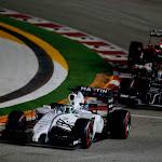Felipe Massa, Williams FW36 Mercedes, leads 2 other cars