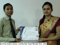 1st Prize Indoor Games ,Tail the Rat -Payel Mondal 2014 -2015