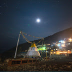 Namche Bazaar in the moon light