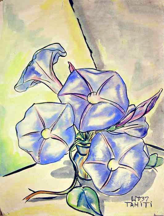 Flowers, watercolor on paper, 1937, 24 x 19 inches