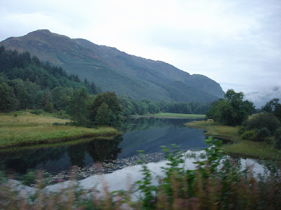 One of the many lochs that the road followed for much of the day