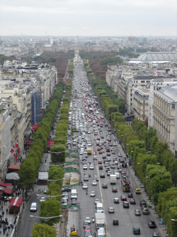 Champs-Elysees from the Arch de Triumph