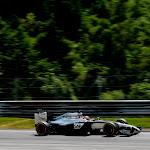 Jenson Button on a straight