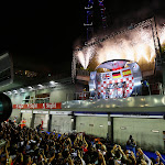 2012 Singapore F1 podium with 1. Vettel, 2. Button, 3. Alonso