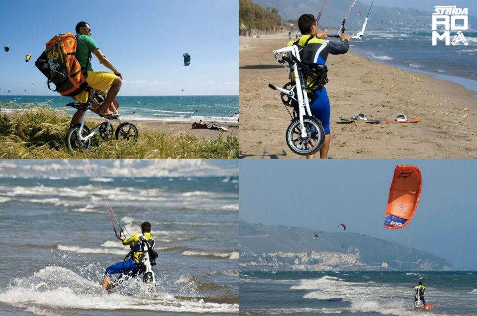 True Multi-Modal Travel Strida + KiteSurf