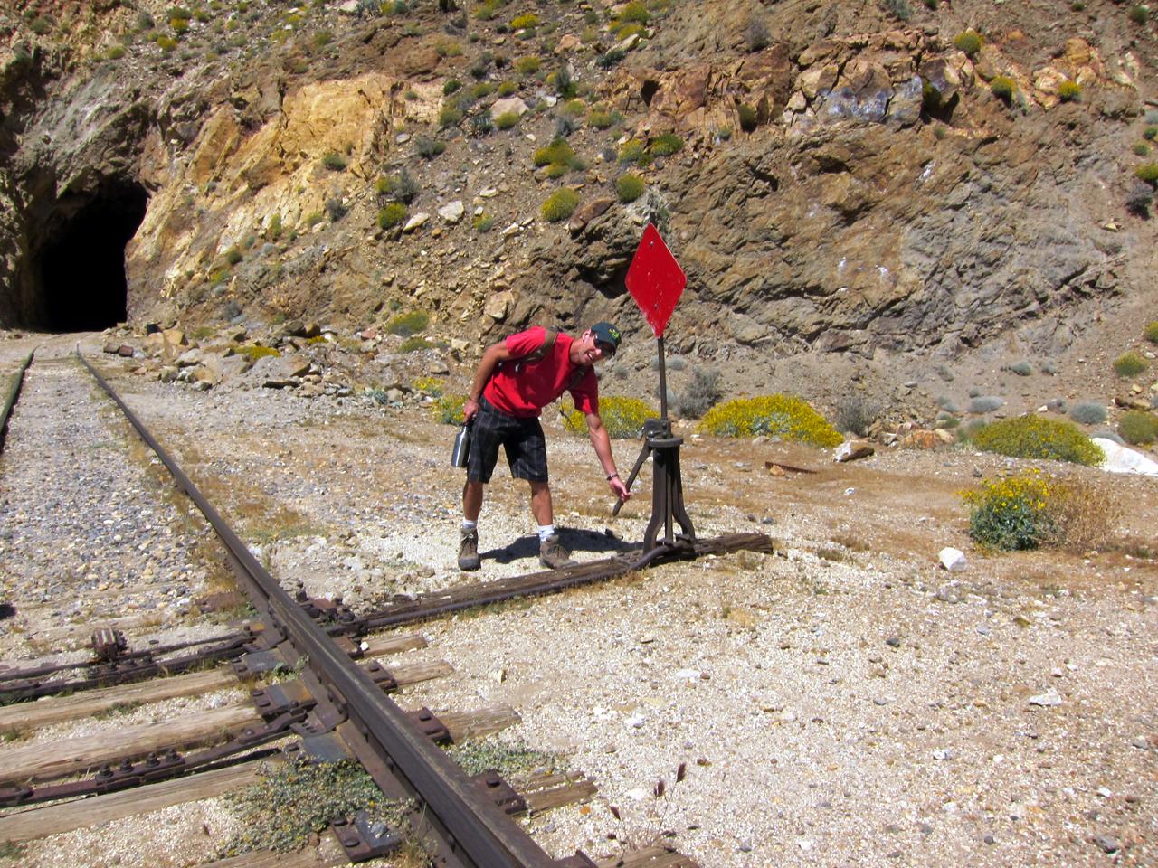 Bob playing trainman