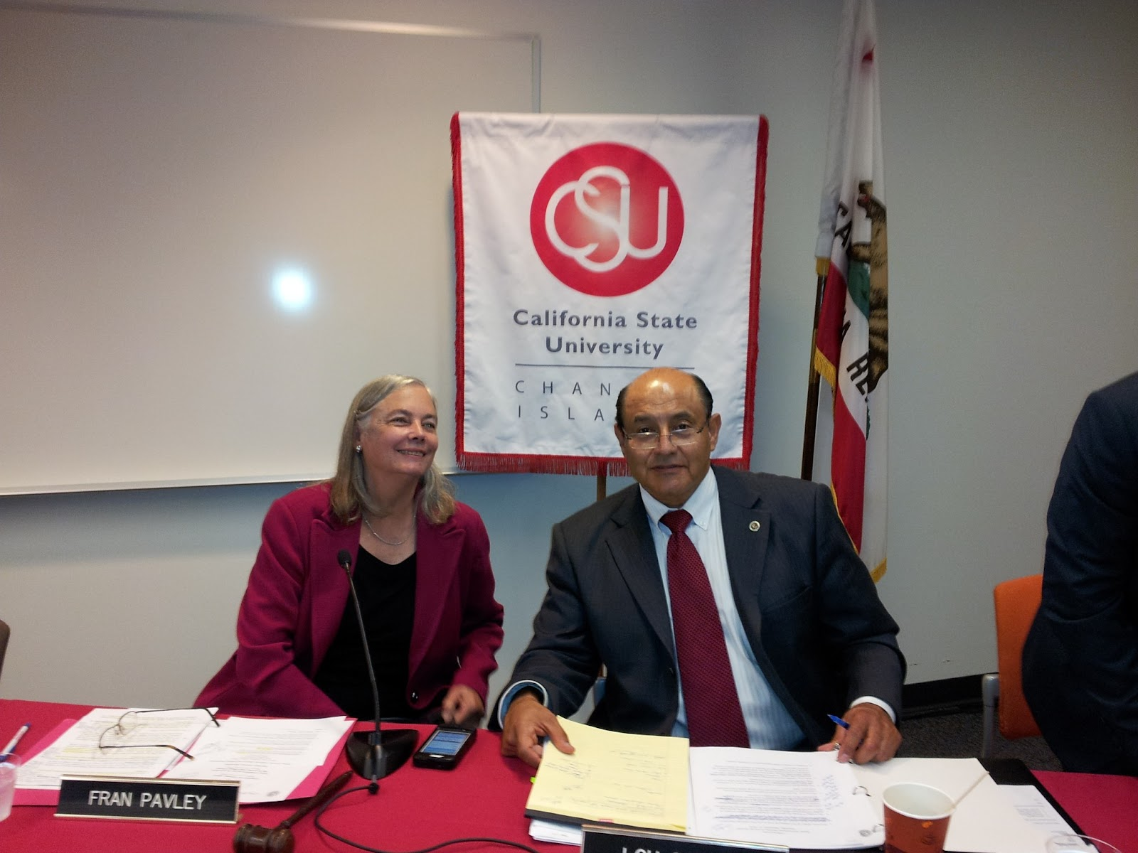 Senator Fran Pavley and Senator Lou Correa at the Special Hearing for Energy Security