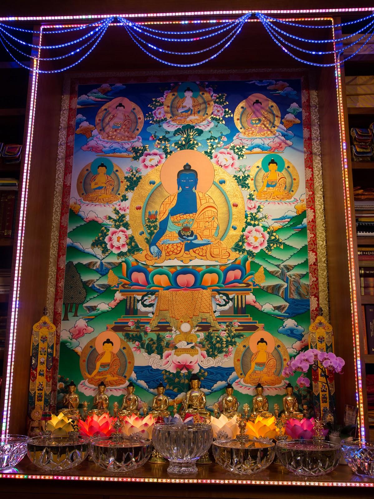 Medicine Buddha Altar. Photo by Ven. Thubten Kunsang.