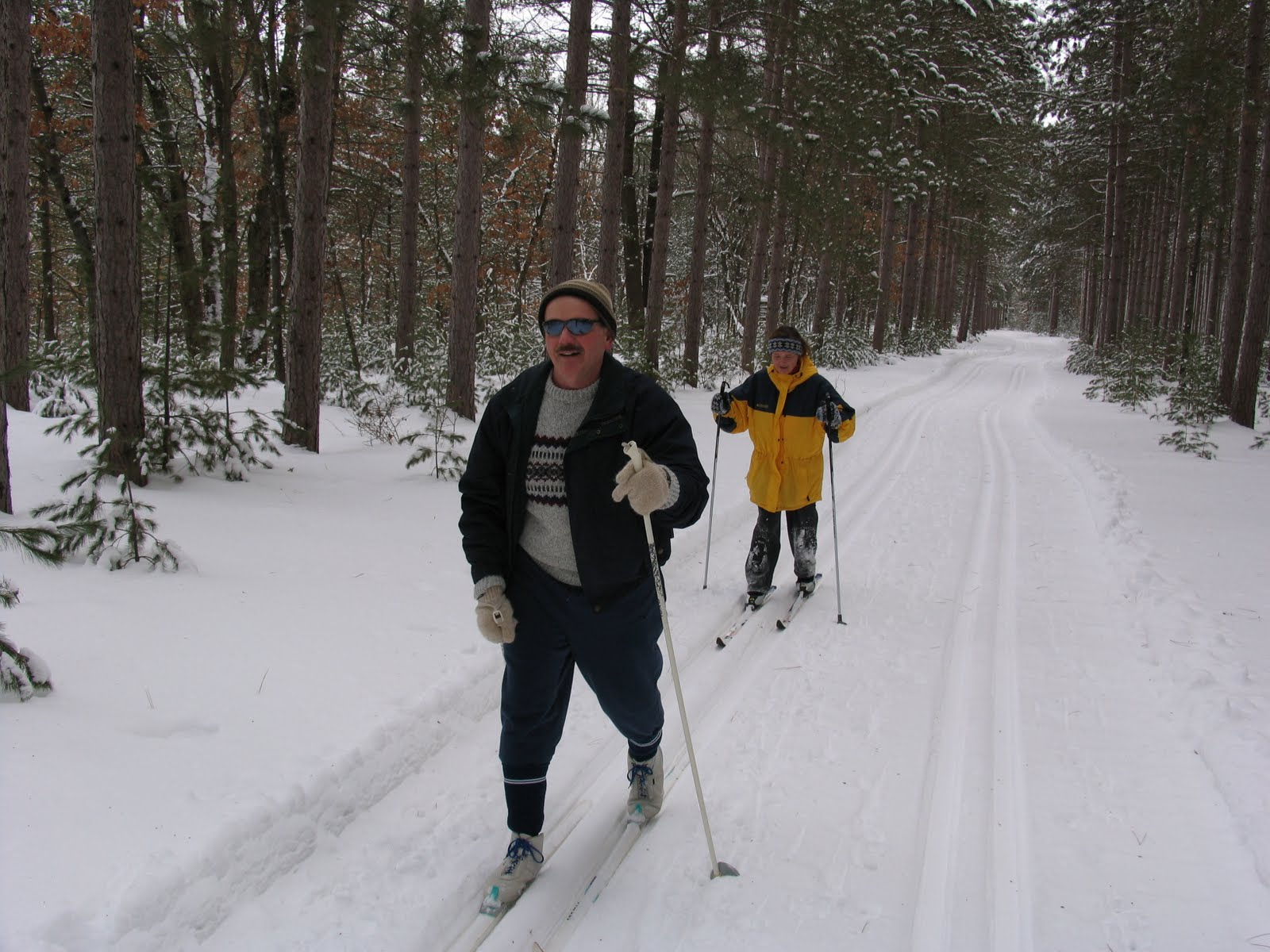 Skiing on the Plover River Ski Trails. Photo by Jim Buchholz