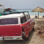 Cuban hippies at the beach