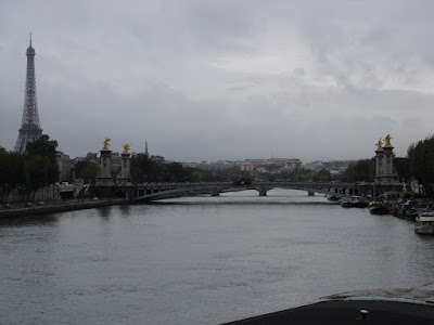 My first glimpse of the Eiffel Tower and the river Seine