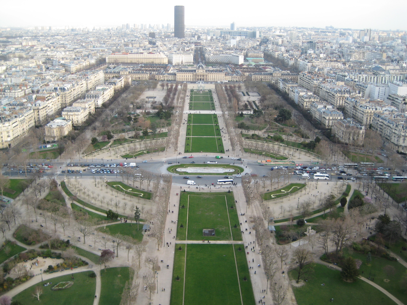 A view from the middle tier of the Eiffel Tower