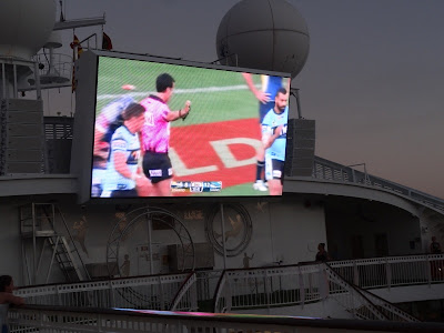 We had the NRL playoff's on the big screen