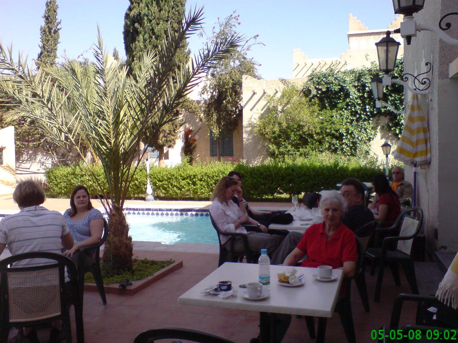 Breakfast at hotel in Ouarzazate