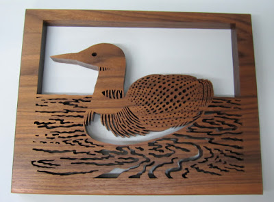 Fretwork Loon Woodworks & Crafts Fall 1998  Black Walnut