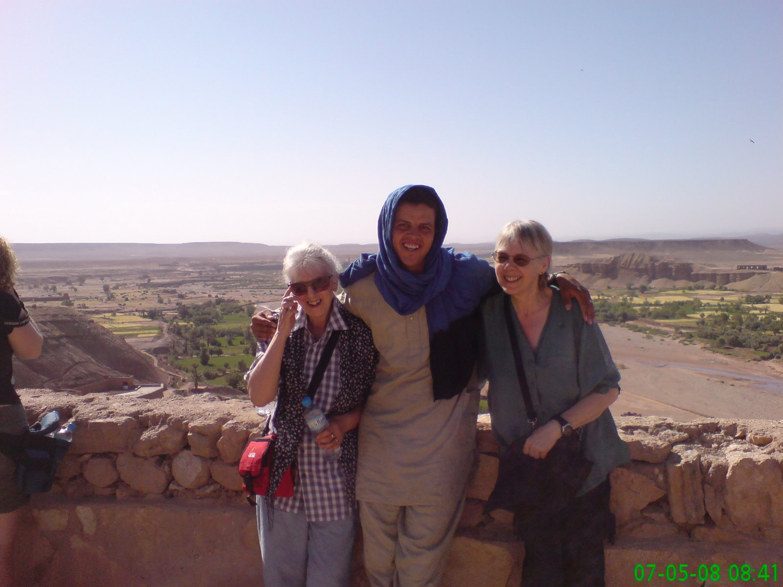 At the top of Ait Ben Haddou with our glorious leader