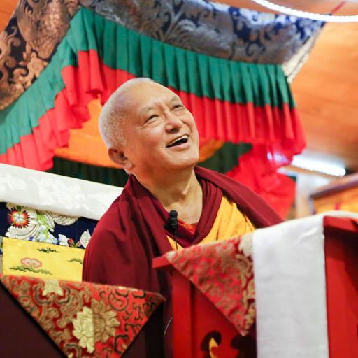 Lama Zopa Rinpoche teaching at Chandrakirti Centre, New Zealand, May 2015. Photo by Ven. Thubten Kunsang.