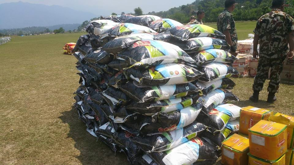 Supplies being delivered in Tsum Valley